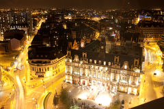 Leeds at night Stock Photography