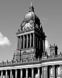 Leeds-Rathaus-Borduhr Stockfoto