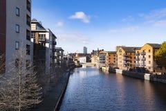 Leeds riverside, West Yorkshire, United Kingdom stock photos