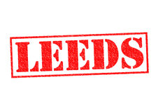LEEDS Rubber Stamp Royalty Free Stock Images