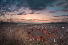 Leeds skymning Royaltyfri Bild