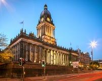Leeds stadshus royaltyfri foto