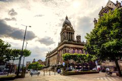 Leeds stadshus arkivbild
