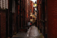 Leeds street. One afternoon in Leeds I saw this magic street in Great Britain Stock Photos