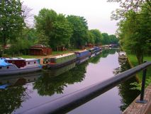Leeds to liverpool canal cycle paths. royalty free stock image