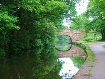 Leeds to liverpool canal cycle paths. Royalty Free Stock Images