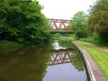 Leeds to liverpool canal cycle paths. Royalty Free Stock Photography