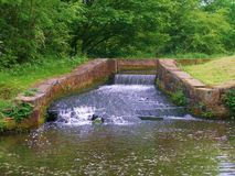 Leeds to liverpool canal cycle paths. Royalty Free Stock Photos