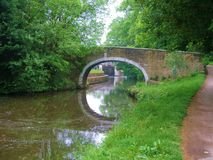 Leeds to liverpool canal cycle paths. Stock Images