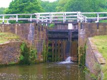 Leeds to liverpool canal cycle paths. Royalty Free Stock Photo