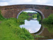 Leeds to liverpool canal cycle paths. Stock Photo