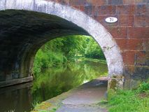 Leeds to liverpool canal cycle paths. Stock Photography