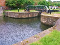 Leeds to liverpool canal cycle paths. Stock Photos