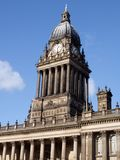 Leeds Town Hall Clock. The clock tower of Leeds (UK) town hall. Built in 1858, this building recently celebrated its 150th anniversary Royalty Free Stock Photography