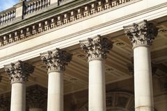 Leeds Town Hall Columns Royalty Free Stock Photos