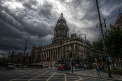 Leeds Town Hall in stormy weather. Stock Photography
