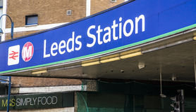 Leeds train station. Picture of Leeds train station entrance July 2015 Royalty Free Stock Photography