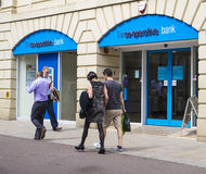 LEEDS, UK - 6 AUGUST 2015.  Picture of  Co-operative Bank Brank Royalty Free Stock Photos
