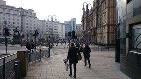 Leeds UK. Leeds city center Stock Photo