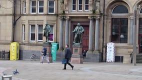 Leeds UK. Leeds city center Stock Images