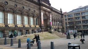 Leeds UK. Leeds city center Royalty Free Stock Photo