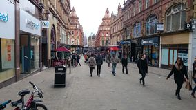 Leeds,UK. A day out shopping Royalty Free Stock Photo