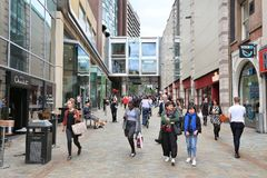 Albion Street, Leeds Royalty Free Stock Photography