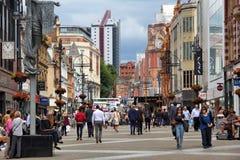 Briggate street, Leeds Royalty Free Stock Photo