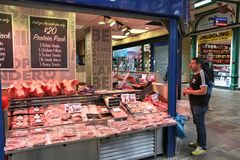 UK meat store Royalty Free Stock Images
