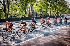 Cyclists in Tour de Yorkshire 2018 stock image