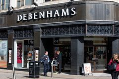 Debenhams shop in Leeds City Cent. LEEDS, UK - 11 September 2018 Debenhams shop in Leeds City Centre royalty free stock photos