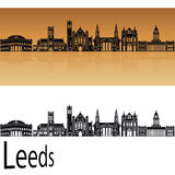 Leeds V2 skyline in orange Stock Photography