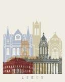 Leeds_V2 skyline poster Royalty Free Stock Images