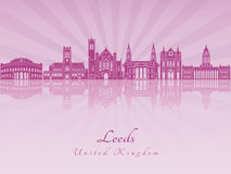 Leeds V2 skyline in purple radiant orchid Stock Photography