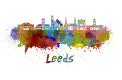 Leeds V2  skyline in watercolor Royalty Free Stock Image