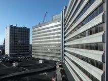 Leeds, Yorkshire, Gran Bretaña - febrero de 2015: el concr de los años 60 Imagenes de archivo