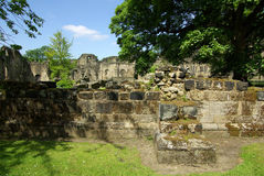 LEEDS, YORKSHIRE, UK - June 6, 2013: Kirkstall Abbey Royalty Free Stock Photography