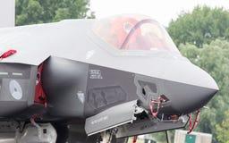 LEEEUWARDEN, ΚΑΤΩ ΧΏΡΕΣ - 11 ΙΟΥΝΊΟΥ 2016: Κινηματογράφηση σε πρώτο πλάνο του νέου F-3 Στοκ εικόνες με δικαίωμα ελεύθερης χρήσης