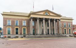 Leeeuwarden, οι Κάτω Χώρες, στις 14 Απριλίου 2018, τοπικές περνώντας τον ομο Στοκ Εικόνες