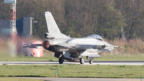 LEEEUWARDEN, ΟΙ ΚΑΤΩ ΧΏΡΕΣ - 11 ΑΠΡΙΛΊΟΥ 2016: Πολωνική Πολεμική Αεροπορία Λ Στοκ φωτογραφία με δικαίωμα ελεύθερης χρήσης