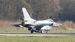LEEEUWARDEN, ΟΙ ΚΑΤΩ ΧΏΡΕΣ - 11 ΑΠΡΙΛΊΟΥ 2016: Πολωνική Πολεμική Αεροπορία Λ Στοκ Φωτογραφίες