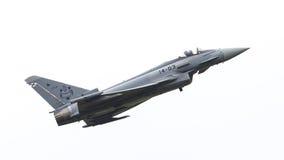 LEEEUWARDEN, ΟΙ ΚΑΤΩ ΧΏΡΕΣ - 11 ΙΟΥΝΊΟΥ: Ισπανική Πολεμική Αεροπορία Eurofig Στοκ Εικόνα