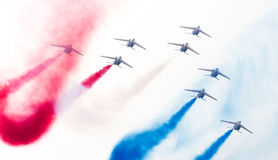 LEEEUWARDEN, ΟΙ ΚΑΤΩ ΧΏΡΕΣ 11 ΙΟΥΝΊΟΥ 2016: Πιλότοι Patrouille Στοκ εικόνα με δικαίωμα ελεύθερης χρήσης