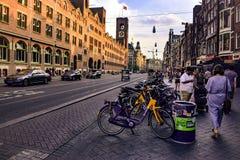 Leef in Amsterdam stock fotografie
