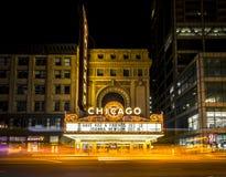 Leef bij het Theater van Chicago stock foto's