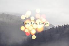 Leef de Liefde van de Lach Royalty-vrije Stock Fotografie