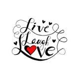 Leef de Liefde van de Lach Stock Afbeeldingen