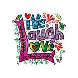 Leef de Liefde van de Lach Royalty-vrije Stock Afbeelding