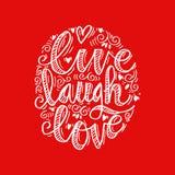 Leef de Liefde van de Lach Stock Foto's