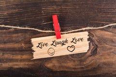 Leef de Liefde van de Lach royalty-vrije stock foto